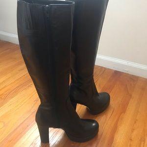 Steve Madden Leahh Boots Leather Platform SZ 8
